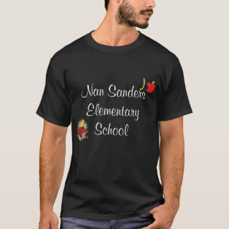 Apple, bookworm for pre-k, Nan San... - Customized T-Shirt