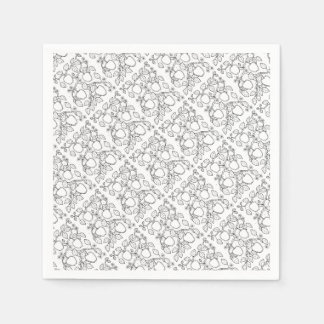 Apple Branch Line Art Design Disposable Napkin