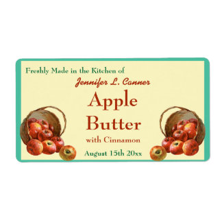 Apple Butter Canning Jar Food Label