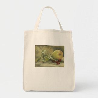 """""""Apple & Cherries"""" painted by Margie Daniels Bags"""