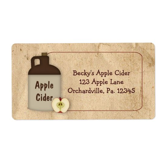 Apple Cider Business Label