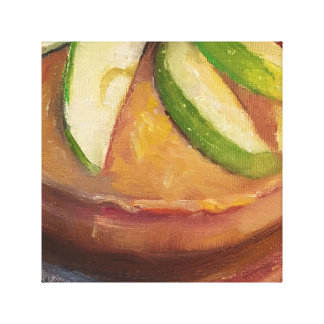 Apple Cider Cake Dessert Foodie Art Canvas Print