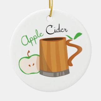 Apple Cider Ceramic Ornament