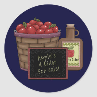 Apple Cider Classic Round Sticker