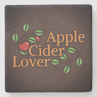 Apple Cider Lover Stone Coaster