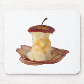 Apple core and peels mouse pad