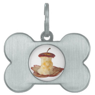 Apple core and peels pet ID tag