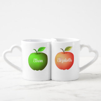 Apple Couple Love Fruit Fresh Nature Stylish Cool Coffee Mug Set