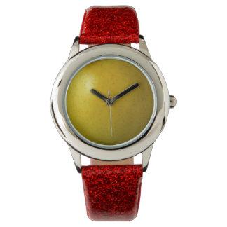 Apple Custom Red Glitter Wrist Watches
