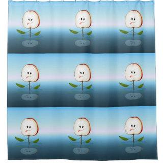 Apple Cut Cartoon Shower Curtain