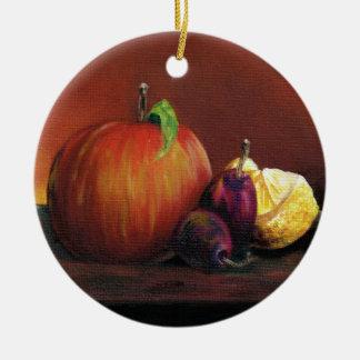 Apple, Damson and Lemon Ceramic Ornament
