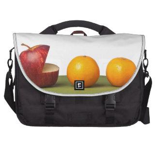 Apple eat orange bag for laptop