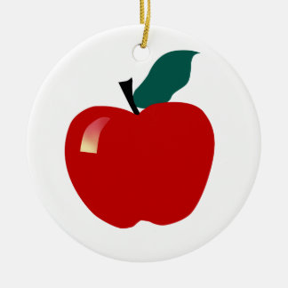 Apple, Educational Ceramic Ornament