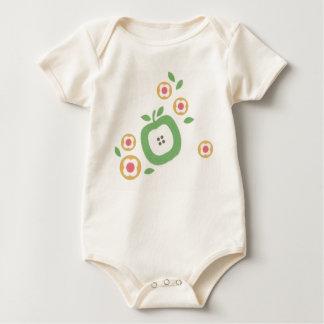 apple etc organic baby bodysuit
