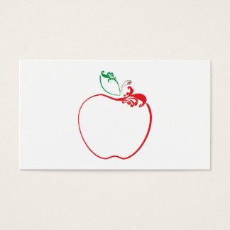 apple flourish punch card