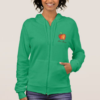 Apple for the Teacher Personalized Gift School Hoodie
