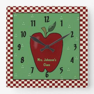 Apple for the Teacher Wall Clock