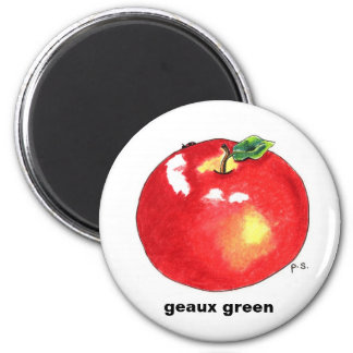 Apple , geaux green magnet