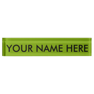APPLE GREEN (a solid fruity color) ~ Nameplate