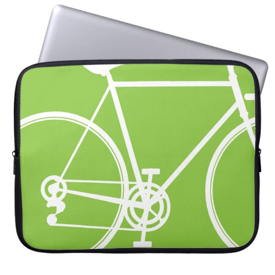 Apple green bike design Laptop Sleeve
