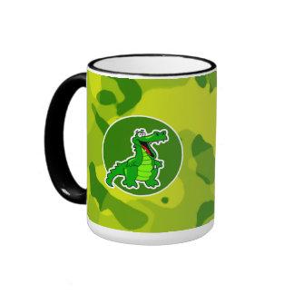 Apple Green Camo; Alligator, Gator Coffee Mug