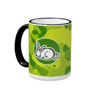 Apple Green Camo; Bunny rabbit Mugs