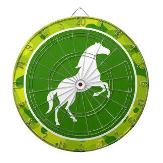 Apple Green Camo; Horse, Equestrian Dartboards