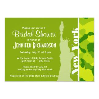 Apple Green Camo; New York 13 Cm X 18 Cm Invitation Card