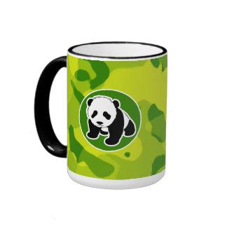 Apple Green Camo Panda Mugs