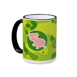 Apple Green Camo Pig Coffee Mug