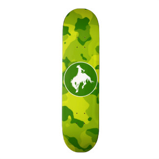 Apple Green Camo; Rodeo Cowboy Skate Boards