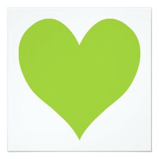 Apple Green Cute Heart Shape Card
