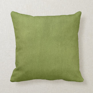 Apple Green Faux Texture Throw Pillow
