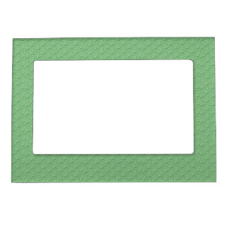 Apple Green Fractal-Style Magnetic Picture Frame