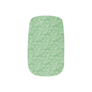 Apple Green Fractal-Style Minx Nail Art