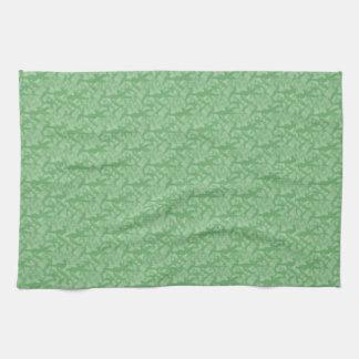 Apple Green Fractal-Style Tea Towel