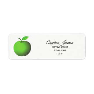 Apple Green Fresh Fruit Nutritionist Nature Eco Return Address Label