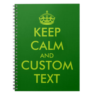 Apple green Keep Calm notebook   Personalized text