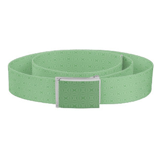Apple Green Squiggly Square Belt