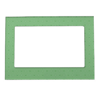 Apple Green Squiggly Square Magnetic Picture Frame