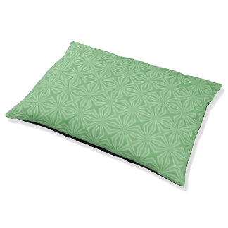 Apple Green Squiggly Square Pet Bed