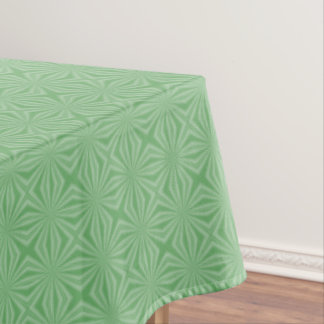 Apple Green Squiggly Square Tablecloth