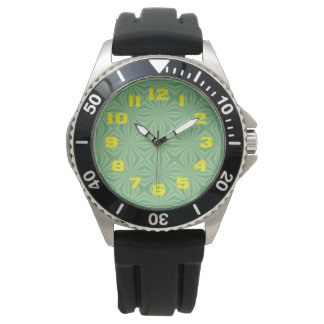 Apple Green Squiggly Square Watch