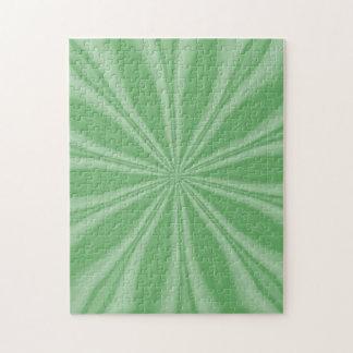 Apple Green Streaks Jigsaw Puzzle