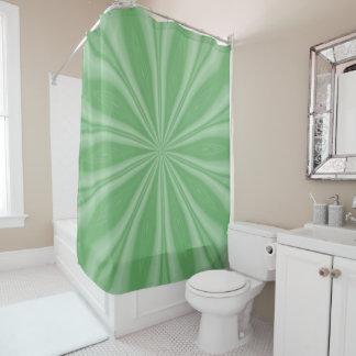 Apple Green Streaks Shower Curtain