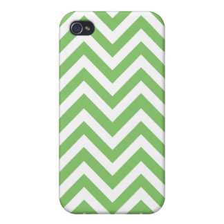 Apple green & White zigzag iPhone 4 Cover
