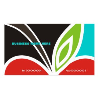 Apple Heart Teacher's Business Card-Turquoise Pack Of Standard Business Cards