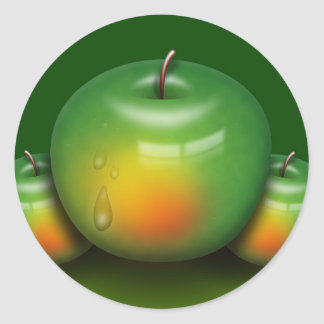 Apple Image Classic Round Sticker