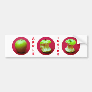 Apple Inside Funny customizable Bumper Sticker