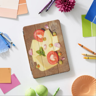 Apple iPad Pro cheese eat on a wooden board iPad Pro Cover